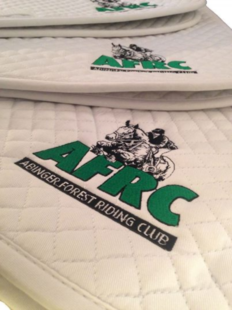 Abinger Forest RC White General Purpose Saddlecloths